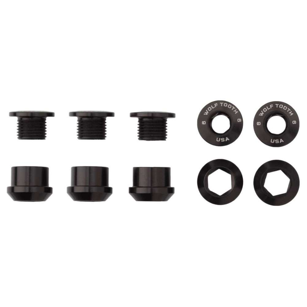 Wolf Tooth Set of 5 Chainring Bolts + Nuts for 1x