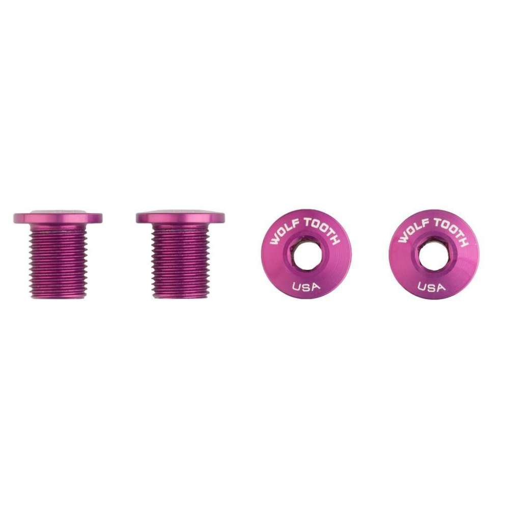 Wolf Tooth Set of 4 Chainring Bolts for M8 threaded chainrings (10 mm long)